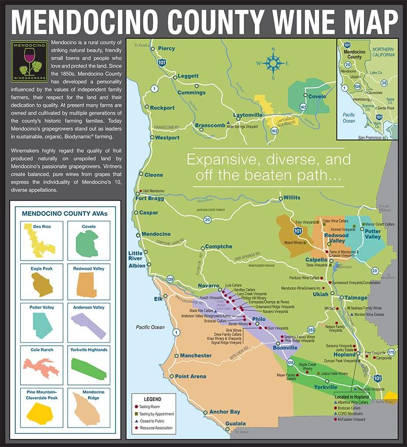 Mendocino ava map california